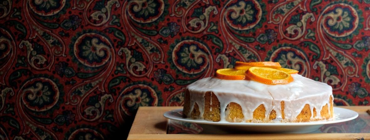 vegan cake with citrus