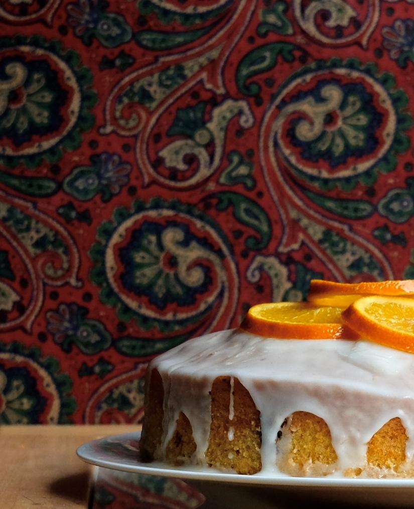 veganer zitruskuchen mit deko