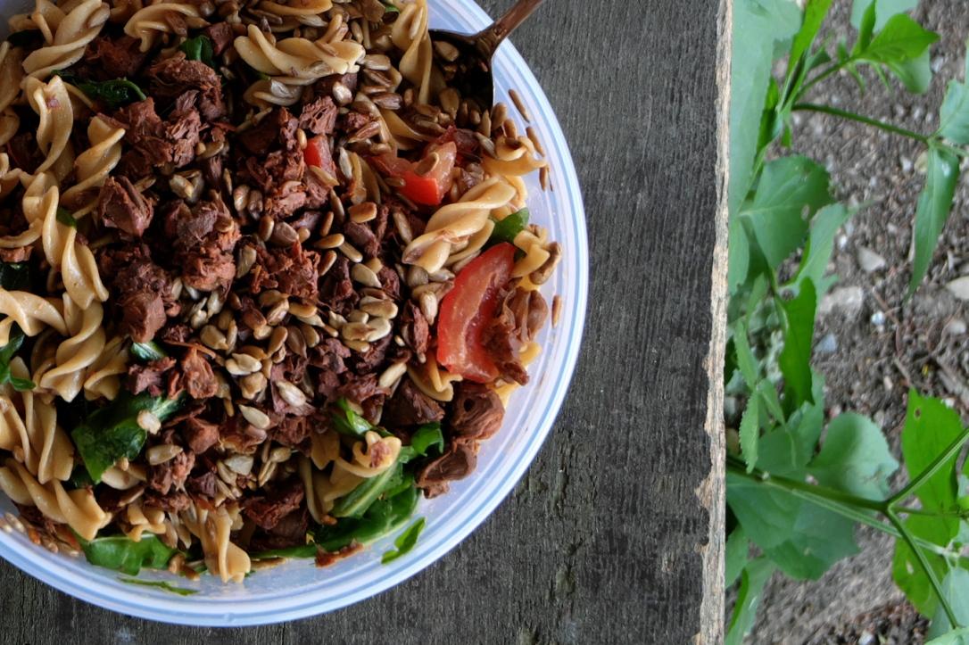 jackfruit pasta salad