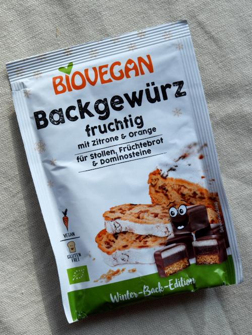 Biovegan Backgewürz fruchtig