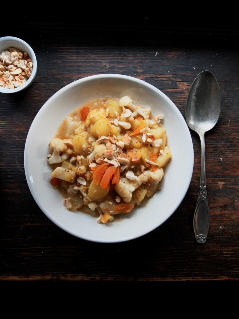 veganes curry mit kartoffeln