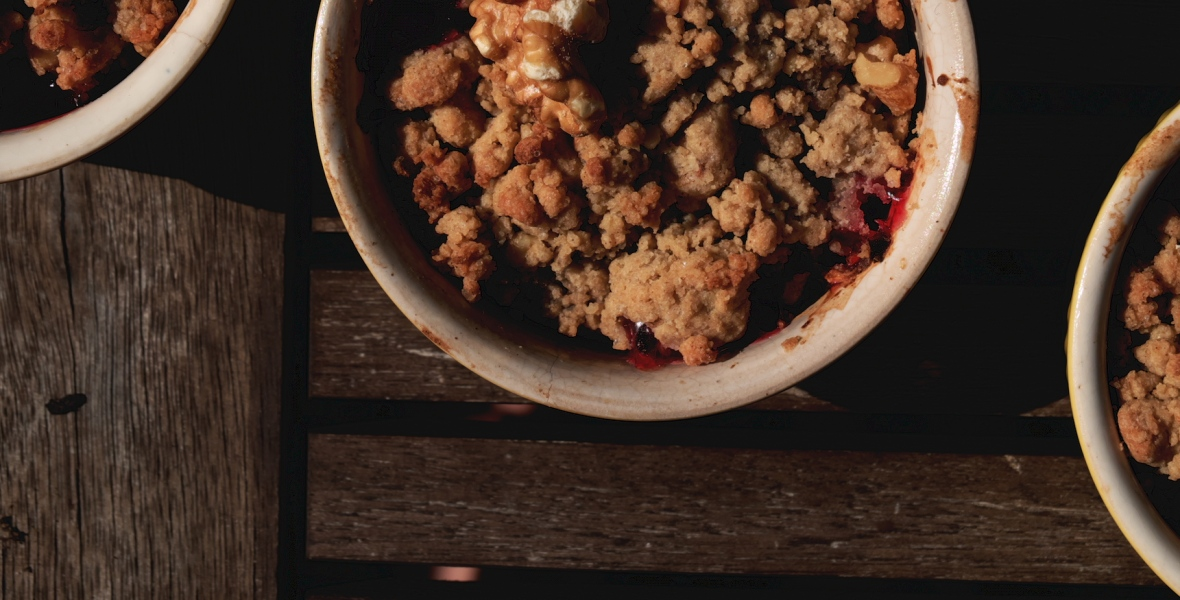 crumble plums summer kuechlein